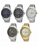 Men's Seiko Chronograph Watch (SKS475P1, SKS477P1, SKS479P1, SKS481P1, SKS482P1) $70