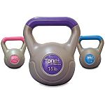 Tone Fitness Kettlebell set (5/10/15 lb) $18 and more