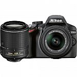 Nikon D3200 DSLR Camera with 18-55mm VR II and 55-200mm VR II Lenses $390