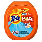 81-Load Tide PODS Ocean Mist HE Turbo Laundry Detergent Pacs for $14