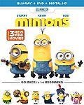 Minions (Blu-ray + DVD + DIGITAL HD) $10