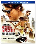 Mission: Impossible - Rogue Nation (Blu-ray/DVD) $10