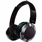 Panasonic RP-BTD10-K Wireless Bluetooth NFC On-Ear Monitor Style Headphones $60