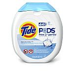 81-Count Tide Pods Free & Gentle HE Turbo Laundry Detergent $13