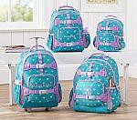 Mackenzie Teal Glitter Heart Large Backpack $14.39