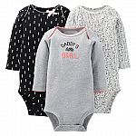 Just One You Made By Carter's Newborn 3-Pack Bodysuit Set $3.58
