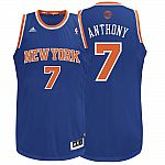 Carmelo Anthony ADIDAS New York Knicks Road (Blue) Men's Jersey $28
