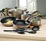 T-Fal Culinaire Champagne 16-Pc. Cookware Set $80
