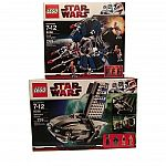 Lego Star Wars 8036 & 8086 Separatists Shuttle Droid Tri-Fighter $60