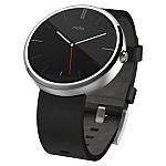 Moto 360 Black and Stainless Steel $105