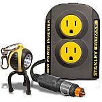 2-Pack Stanley FatMax 140W Power Inverter + Keychain LED Light $30