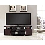 "Carson XL Black and Cherry TV Stand for TVs up to 70"" (Black and Cherry) $79"