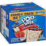 32-Count Pop-Tarts Toaster Pastries (Frosted Strawberry) $5.73