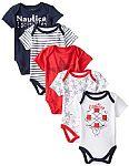 Nautica Baby Girls' 5 Pack Bodysuits $9