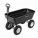 Gorilla Carts 1000 lb. Heavy Duty Poly Dump Cart $99