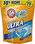 Arm & Hammer Laundry Detergent Plus OxiClean Power Paks, 70 Ct $6.50