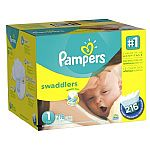 Pampers Swaddlers Diapers Size 1 Economy Pack Plus, 216 Count $26.43