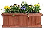 "Pennington Décor Matthews 40""/Large Heartwood Planter Box $15"