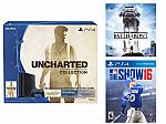PlayStation 4 500GB - Uncharted: The Nathan Drake Collection Bundle (Physical Disc)+Star Wars: Battlefront +MLB the Show