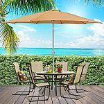 Outdoor Patio Umbrella 9' Aluminum Tilt W/ Crank $35 & more