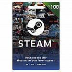 $100 Steam Gift Card $85