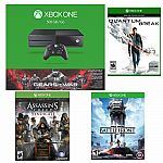 Xbox One 500GB Gears of War: Ultimate Edition Console Bundle + Quantum Break, Assassin's Creed Syndicate, Star Wars Battlefront) $379 and more