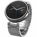 Motorola Moto 360 Smartwatch (Light Finish, Light Stainless Steel Band, Regular Fit) $100