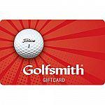 $50 Golfsmith Gift Card $40,$50 Callaway Golf Gift Card $37.50