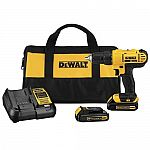 "DeWALT 20V MAX Lithium-Ion 1/2"" Compact Drill Driver Tool Kit (Refurbished w/factory warranty) $75"