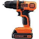Black & Decker LDX120C 20-Volt MAX Lithium-Ion Cordless Drill/Driver $16.31 (price error?)