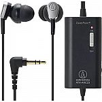 Audio-Technica ATH-ANC23 QuietPoint Active Noise-Cancelling In-Ear Headphones $29