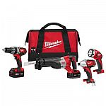Milwaukee M18 18-Volt Lithium-Ion Cordless Tool Set $299
