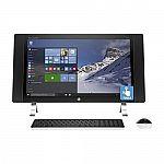 "HP ENVY 27-p041 All-in-One Desktop 27"" WQHD Touchscreen (i5-6400T 8GB 2TB 2560x1440 R7 A365) $850"