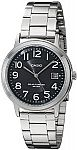 Casio MTP-S100D-1BVCF Solar Easy-To-Read Silver-Tone Watch $20