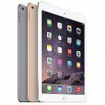 "Apple iPad Air 2 9.7"" Wi-Fi + Cellular 64GB $524, 128GB $567"