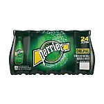 Perrier Sparkling Natural Mineral Water, 16.9-ounce plastic bottles (Pack of 24) $15