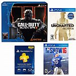 Playstation 4 500GB COD Console+MLB The Show 16+PSN Membership 1 Year+Uncharted $409