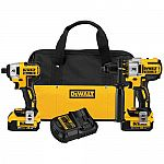 DEWALT DCK296M2 20V XR Lithium Ion Brushless Premium Hammerdrill and Impact Driver Combo Kit $239