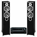 Onkyo TX-NR646 7.2-Channael Network A/V Receiver + Pair of Infinity Primus P253 Floorstanding Speakers $499