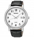 Seiko SUR113 Men's Classic Leather Strap Date Dress Watch $30, Seiko SUR071 $60