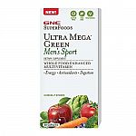 GNC SuperFoods Ultra Mega Green Men's Sport 60 Caplets $9