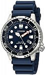 Citizen Men's Eco-Drive Promaster Diver Blue Strap Watch 42mm BN0151-09L + $25 1-800-FLOWERS gift card  $177
