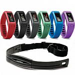 Garmin Vivofit Bluetooth Fitness Band Bundle with Heart Rate Monitor $50