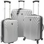 Traveler's Choice 3-Piece Hardside Ultra Lightweight Hardside Luggage $100