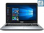 "ASUS X555UB 15.6"" Laptop (i5-6200U 8GB 1TB 1080p GeForce 940M) $530"