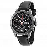 Seiko Mens Black Leather Strap Chronograph Sport Watch SKS439 $70