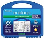 Panasonic Eneloop Rechargable Batteries 8AA, 2AAA, 2 C Spacers, 2 D Spacers, Charger $30