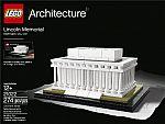 LEGO 21022 Architecture Lincoln Memorial Model Kit $21