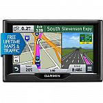 Garmin nuvi 57LMT 5 inch GPS Navigation System with Lifetime Maps & Traffic Updates $115