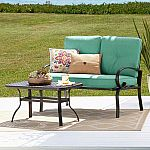 SONOMA Goods for Life Claremont Patio Loveseat & Coffee Table 2-piece Set + $20 Kohls cash $133 (Kohl's card) and more